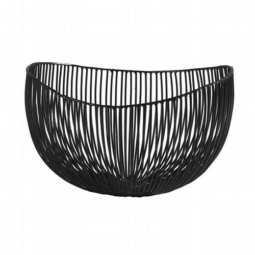 Wire Fruit Basket - Deep - Black